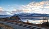 From the Seward Highway, Alaska (Odd Jim) Tags: kenai lake seward highway alaska usa america 49th state mountains railway railroad landscape seascape water clouds travelling travel roadtrip