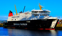 Scotland Greenock car ferry Finlaggan in the ship repair dock for a overhaul 9 February 2018 by Anne MacKay (Anne MacKay images of interest & wonder) Tags: scotland greenock caledonian macbrayne calmac car ferry finlaggan ship repair dock xs1 9 february 2018 picture by anne mackay
