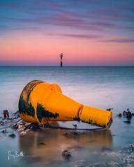 The yellow buoy (thesharkhunter) Tags: buoy margate kent england seascape sunrise calm sonya6500 gregbottle