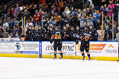 """Kansas City Mavericks vs. Florida Everblades, February 18, 2018, Silverstein Eye Centers Arena, Independence, Missouri.  Photo: © John Howe / Howe Creative Photography, all rights reserved 2018 • <a style=""""font-size:0.8em;"""" href=""""http://www.flickr.com/photos/134016632@N02/26516791838/"""" target=""""_blank"""">View on Flickr</a>"""