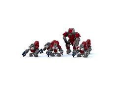 Halo Wars 2 Banished Troops (LegoDigitalDesigner) Tags: lego legodigitaldesigner halo halowars grunt brute covenant banished halowars2 ldd