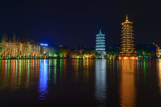 GuiLin Downtown at Night