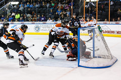 "Kansas City Mavericks vs. Ft. Wayne Komets, March 2, 2018, Silverstein Eye Centers Arena, Independence, Missouri.  Photo: © John Howe / Howe Creative Photography, all rights reserved 2018 • <a style=""font-size:0.8em;"" href=""http://www.flickr.com/photos/134016632@N02/26768688488/"" target=""_blank"">View on Flickr</a>"