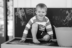 Chalkboard Portrait (JG_photo) Tags: toddler preschooler portrait chalk chalkboard table drawing fun smile