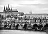 Charles Bridge in Prague (WilliamND4) Tags: prague bridge clouds blackandwhite nikond810 water river