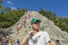 Model in Mexico (aaronrhawkins) Tags: jackson coba tulum mexico yucatan peninsula ruin maya archeology mayanriviera riveramaya vacation christmas family portrait climb pyramid cancun aaronhawkins