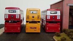 Back ends..... (Titanlad) Tags: modelbus efe parkroyal leyland fleetline dms b20 londontransport yellow