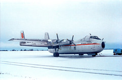Aviation 0025 Argosy, Stansted 1980 (Bill Atkinson2) Tags: argosy london stansted airport abc freight gaprn
