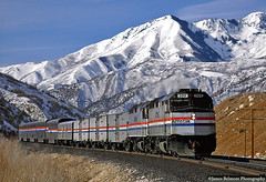 Loafer Mountain (jamesbelmont) Tags: railway amtrak californiazephyr emd f40ph loafermountain wasatch spanishforkcanyon utah passenger canyon