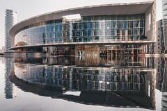 ...una Milano da bere (FButzi) Tags: milano piazza gae aulenti italy italia architettura architecture building buildings reflection water