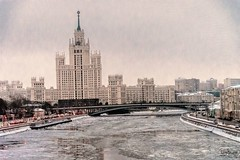 Ice cold Moscow (Tony_Brasier) Tags: nikond7200 icecold moscow river raw russia cars buildings bridge fun lovely loving location 1750mm sigma shops boats