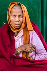Morning prayer (Eva Janku) Tags: monk lady pray praying pagoda morning meditation outdoor focus