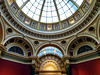 National Gallery, London, England (duaneschermerhorn) Tags: gallery museum colors colours colorful colourful ceiling dome glass lightcurves gold art artwork paintings sculpture