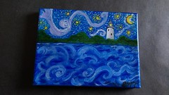 Ocracoke Starry Night-Maureen Ohar Ciancio #14 (ocracokepreservationsociety) Tags: ocracoke ops obx ocracokeisland opsauction art