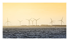 Farming [explored] (Myrialejean) Tags: wind weather farm farming turbines generation electricity power energy sea coast coastal bridlington eastriding eastcoast yorkshire waves water shore sky horizon winter misty