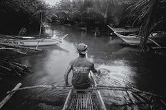 _MG_9933 (jeridaking) Tags: boat outrigger swamp nipa leaves plants view mono monotone boatman cap hat between lao ormoc brackish river ralph matres jeridaking fortheloveofphotography travel leyte philippines visayas canon 5dii wide 1740 f4 people folks pinoy filipino banka