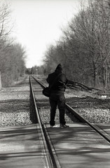 TRAIN! (Alex Luyckx) Tags: unionville ontario canada urban downtown historicdowntown historic markham people portrait random street streetphotography photographers spontanious casual tfsm tfs torontofilmshooters torontofilmshootersmeetup meetup gathering social