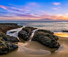 Laguna Beach Sunset (meeyak) Tags: shawscove lagunabeach beach oc orangecounty california usa landscape seascape colors westcoast reflection rocks ocean sand water waves sky clouds sunset meeyak zeiss batis 18mm sony a7r2 travel vacation adventure outdoors winter nature