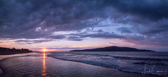 Last rays (Images by Leah) Tags: kapiti island sun sunset beach sand waves water cloud sky newzealand