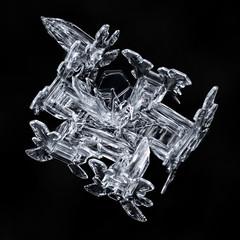 Snowflake-a-Day No. 39 (Don Komarechka) Tags: snowflake snow flake ice crystal nature fractal bullet physics science weather meteorology unusual volumetric macro focusstacking strange column