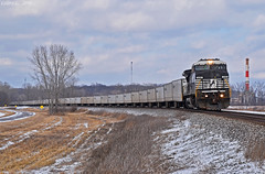 "Westbound RoadRailer Train in Missouri City, MO (""Righteous"" Grant G.) Tags: ns norfolk southern railway railroad locomotive train trains west westbound ge power general electric road rail roadrailer triple crown service trailer"