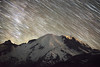 Rainier Peak Star Trails (Mike Ver Sprill - Milky Way Mike) Tags: mt rainier star trails startrails polaris milky way mike galaxy universe cosmos astrophotography astronomy washington state mount mountain peak summit travel nightscape night sky dark skies seattle light pollution