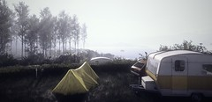"""""""Sunday morning"""" (L1netty) Tags: thechineseroom playstationmobile everybodysgonetotherapture pc games gaming reshade screenshot nature outdoor color 4k videogame river scenery water landscape car white light van tent"""