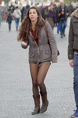 Probably Cold Legs 2 (booster_again) Tags: shorts tights pantyhose boots