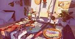 ... sewing table... (lindini2) Tags: secondlife sl plaaka ranru shinyshabby sewing table dogartgacha l2 picture shadows