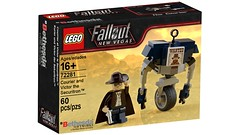 Fallout: New Vegas - Courier and Victor the Securitron [fictional set] (initial_dvache) Tags: ldd lego blender mecabricks fallout