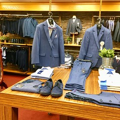 Suits You Sir! (Explored) (JulieK (thanks for 8 million views)) Tags: wexford horesstores suits squareformat iphonese 2018onephotoeachday inexplore display shoes blue