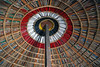 Painted woven wood ceiling in a hut in a faux village near Jaisalmer, India. (albatz) Tags: ceiling domed india udaipur hut circles painted