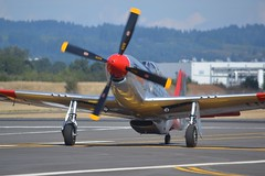N151AF (LAXSPOTTER97) Tags: n151af north american p51d mustang cn 12448278 val halla 2017 oregon international airshow airport aviation airplane