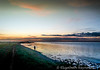 Day 43. (lizzieisdizzy) Tags: bretdonwater norfolk greatyarmouth sunset sky water broad colourfulsky sundown clouds moody beautifuk calming lonefigure walking shore shoreline reflections reflection reflect reflective horizon lookingwest shallow alone lonely peaceful howiemarsh