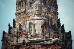 Putting the pieces together (leewoods106) Tags: buddha buddhism religion temple thailand asia southeastasia fareast red blue ancientcity ancient ancientmonument statue mustseeplaces historiccity history historic