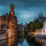 Canal in the Middle age town thumbnail