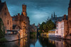 Canal in the Middle age town (Jacob Surland) Tags: architecture art belgium bruges brugge brügge building canal caughtinpixels city citybynight cityscape clouds country fineart fineartphotography hdr highdynamicrange jacobsurland lamp lamps light lights night oldbuilding oldtower peaceful realismdigitalart reflections time tower towers warmlight water