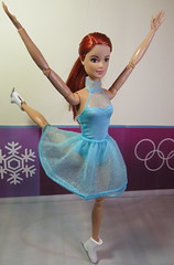 5. Figure Skating at Pyeong Chang (Foxy Belle) Tags: doll barbie ice skate olympics korea 2018 competition costume purple wall pyeong chang redhead mtm made move mattel