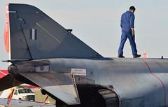 The Ghost walk (Fleet flyer) Tags: royalinternationalairtattoo riat gloucestershire raffairford greekairforce greece hellenicairforce πολεμικήαεροπορία polemikíaeroporía mcdonnelldouglasf4ephantomii mcdonnelldouglasf4e f4ephantomii mcdonnelldouglas phantom spook doubleugly fighter mc donnell douglas