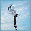 Mann mit Flügel (magritknapp) Tags: skulpturdeskünstlersklauspeterlenk bodensee bodmann himmel wolken sculptureoftheartistklauspeterlenk lake constance sky clouds