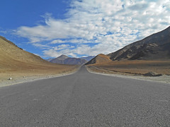 Highway to Paradise! (Abeer!) Tags: road ladakh ladakhhimalayas india abeer abeerbarman landscape valley blue clouds himalaya himalayas highaltitude sky vale mountain hill path scenery