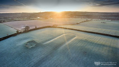 Newgrange cursus (mythicalireland) Tags: newgrange cursus monument trench channel furrow ushaped ceremonial neolithic bronze iron age aerial dji drone phantom 3 advanced sunrise dawn rising sun frost cold landscape field fields sky meath boyne valley morning early clouds remote sensing