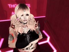 Punk Doll [BlogPost] (ΨĄηϊʈα Ďeceιt IкєяυΨ) Tags: punk doll red light district toxic dolls goth piercings babe babydoll babygirl pink black pixie princess diva rawr cute lil monster second life secondlife sl snapshot screnshot blogpost