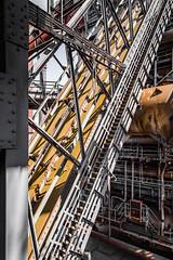 ramp - struts - rust (Alexander Dülks) Tags: lines iron landschaftsparkduisburgnord rampe industrie rust eisen linien streben rost machinery ramp struts steel 2014 lapadu industry duisburg germany stairs treppe stair