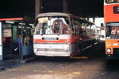 Abbott, Blackpool NFR 497M (SelmerOrSelnec) Tags: abbott blackpool aec reliance plaxton nfr497m manchester chorltonstreetbusstation bus coach