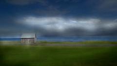 From Iceland. (Tóta. 27.12.1964.) Tags: landscape house mountain water grass clouds sky iceland ísland