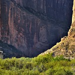 Zoomed in to Show Just a Hint of Immense Cliff Walls (Big Bend National Park) thumbnail