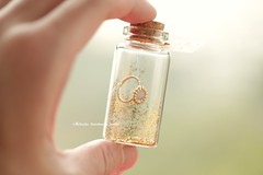 To me...you are the world,Tiny message in a bottle,Miniatures,Personalised Gift,love card,Valentine Card,Gift for her/him,Girlfriend gift, birthday card, message card and miniatures card ideas (charles fukuyama) Tags: ring weddingring handmadecard unique glitter custom greetingscard holidaycard gold miniaturescard anniversarycard valentineday homedecor deskdecor kikuike