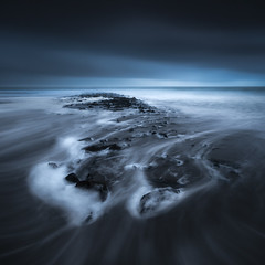 Fate (laanscapes) Tags: 500px sea blue ocean twilight wave seascape surf long exposure storm fate atmospheric dramatic sky coldness northern lights tutorial laanscapes daniel laan