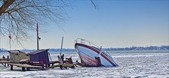 Got Insurance? (Sue90ca Flic*kr Is Finicky, Unable To Comment) Tags: canon 6d sink boat ice river